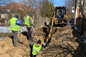 Excavare sant canalizare Arges